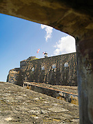 View through a window, Castillo San Felipe del Morro, Old San Juan/Viejo San Juan