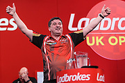 Mensur Suljovic during the Ladrokes UK Open 2019 at Butlins Minehead, Minehead, United Kingdom on 1 March 2019.