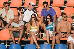 Spectators at 1st Round of Banka Koper Slovenia Open WTA Tour tennis tournament, on July 21 2009, in Portoroz / Portorose, Slovenia. (Photo by Vid Ponikvar / Sportida)
