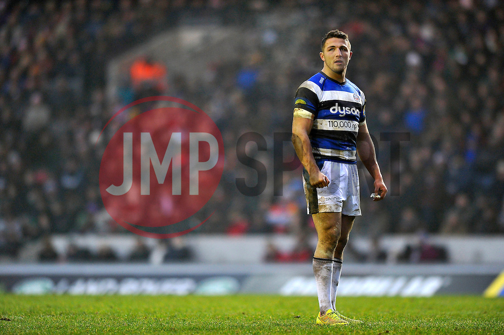 Sam Burgess of Bath Rugby - Photo mandatory by-line: Patrick Khachfe/JMP - Mobile: 07966 386802 04/01/2015 - SPORT - RUGBY UNION - Leicester - Welford Road - Leicester Tigers v Bath Rugby - Aviva Premiership