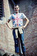 Symond with Union Jack Shirt, High Wycombe, UK, 1980s.