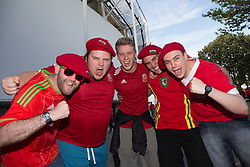 TOULOUSE, FRANCE - Monday, June 20, 2016: Wales supporters before the final Group B UEFA Euro 2016 Championship match against Russia at Stadium de Toulouse. (Pic by Paul Greenwood/Propaganda)