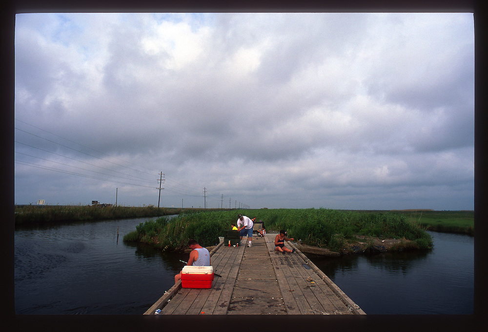 Early Morning Crabbing, Cameron Parish