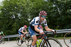 Lotta Lepisto battles up the climb on Stage 3 of the Giro Rosa - a 100 km road race, between San Fior and San Vendemiano on July 2, 2017, in Treviso, Italy. (Photo by Sean Robinson/Velofocus.com)
