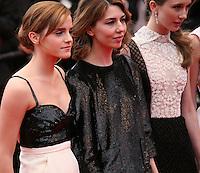Emma Watson, Sofia Coppola, Taissa Fariga, at the gala screening of Jeune & Jolie at the 2013 Cannes Film Festival 16th May 2013