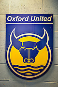 Oxford United club crest before the Sky Bet League 2 match between Oxford United and Northampton Town at the Kassam Stadium, Oxford, England on 16 February 2016. Photo by Adam Rivers.