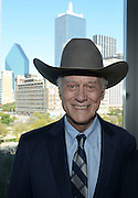 Actor Larry Hagman, star of the &quot;I Dream of Jeanie&quot; and &quot;Dallas&quot; television series, shown here with the Dallas skyline, on 10/27/2012, died on Friday, 11/23/2012.<br /> <br /> Robert W. Hart/Special Contributor