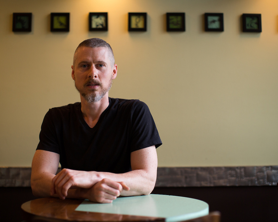 Jared Valentine, owner of Open Face Sandwich Eatery on South Avenue in Rochester on Tuesday, June 2, 2015.