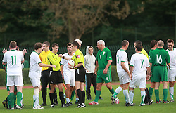End of friendly football game between famous Slovenians at day of Fair play, on September 21, 2008 in Kodeljevo, Ljubljana, Slovenia. (Photo by Vid Ponikvar / Sportal Images)