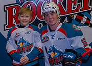 KELOWNA, CANADA - DECEMBER 30:  Pepsi Player of the game with Kole Lind #16 of the Kelowna Rockets at the Kelowna Rockets game on December 30, 2017 at Prospera Place in Kelowna, British Columbia, Canada.  (Photo By Cindy Rogers/Nyasa Photography,  *** Local Caption ***