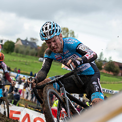 2019-11-03: Cycling: Superprestige: Ruddervoorde: Pim Roonhaar struggeling to keep control