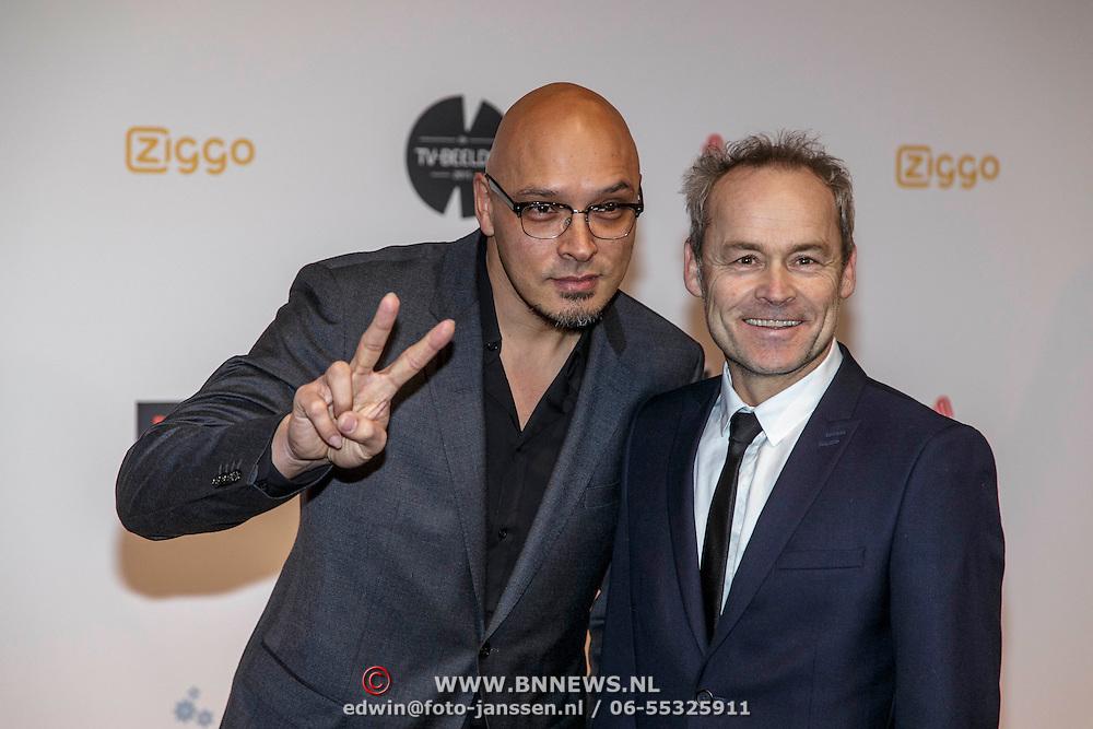 NLD/Amsterdam/20150302 - Uitreiking TV Beelden 2015, ............. en Marcel Hensema