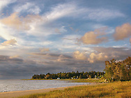 A Stormy And Beautiful Morning Along The Lake Michigan Coast Near Manistique, Upper Peninsula, Michigan, USA : Low Res File - 8X10 To 11X14 Or Smaller, Larger If Viewed From A Distance