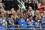 AFC Wimbledon defender Will Nightingale (5) during the Sky Bet League 2 play off final match between AFC Wimbledon and Plymouth Argyle at Wembley Stadium, London, England on 30 May 2016.