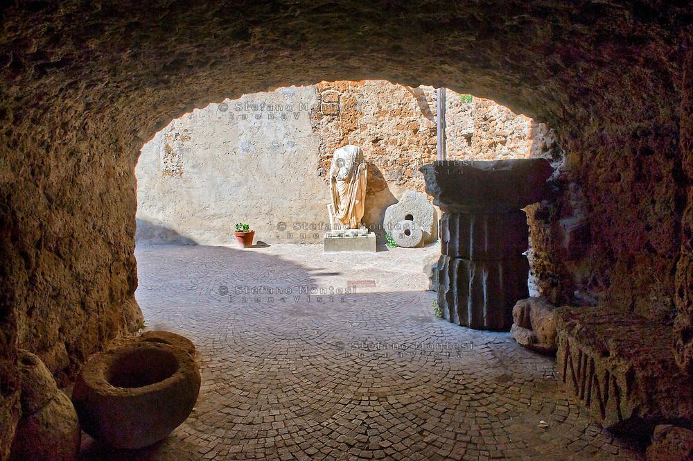 Cerveteri 30 Agosto 2014<br /> L'ingresso del Museo Nazionale Archeologico Cerite  nel Castello Ruspoli.<br /> Cerveteri August 30, 2014 <br /> The entrance to the National Archaeological Museum  Cerite in the Ruspoli castle