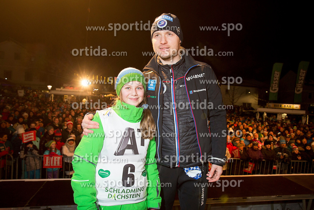26.01.2015, Planai, Schladming, AUT, FIS Skiweltcup Alpin, Schladming, Startnummernauslosung, im Bild Alexander Khoroshilov (RUS) // Alexander Khoroshilov (RUS) during the drawing of the starting numbers for the men's slalom of Schladming FIS Ski Alpine World Cup at the Planai Course in Schladming, Austria on 2015/01/26, EXPA Pictures © 2015, PhotoCredit: EXPA/ Erwin Scheriau