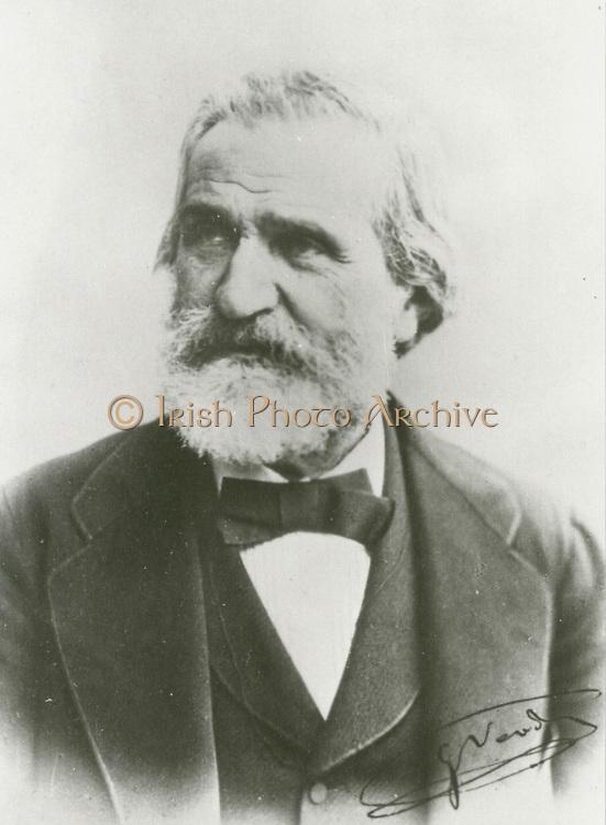 'Giuseppe Verdi (1813-1901) Italian Romantic composer, many of whose operas are standard repertoire in the world's operea houses.'