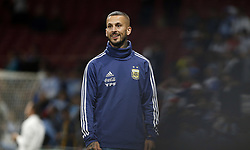 March 22, 2019 - Madrid, Madrid, Spain - Argentina's Marco Benedetto seen warming up before the International Friendly match between Argentina and Venezuela at the wanda metropolitano stadium in Madrid. (Credit Image: © Manu Reino/SOPA Images via ZUMA Wire)