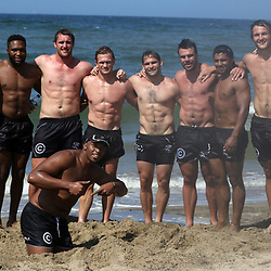 DURBAN, SOUTH AFRICA, December 101 2015 - General views during The Cell C Sharks Pre Season Beach South Beach training for the 2016 Super Rugby Season . (Photo by Steve Haag)<br /> images for social media must have consent from Steve Haag