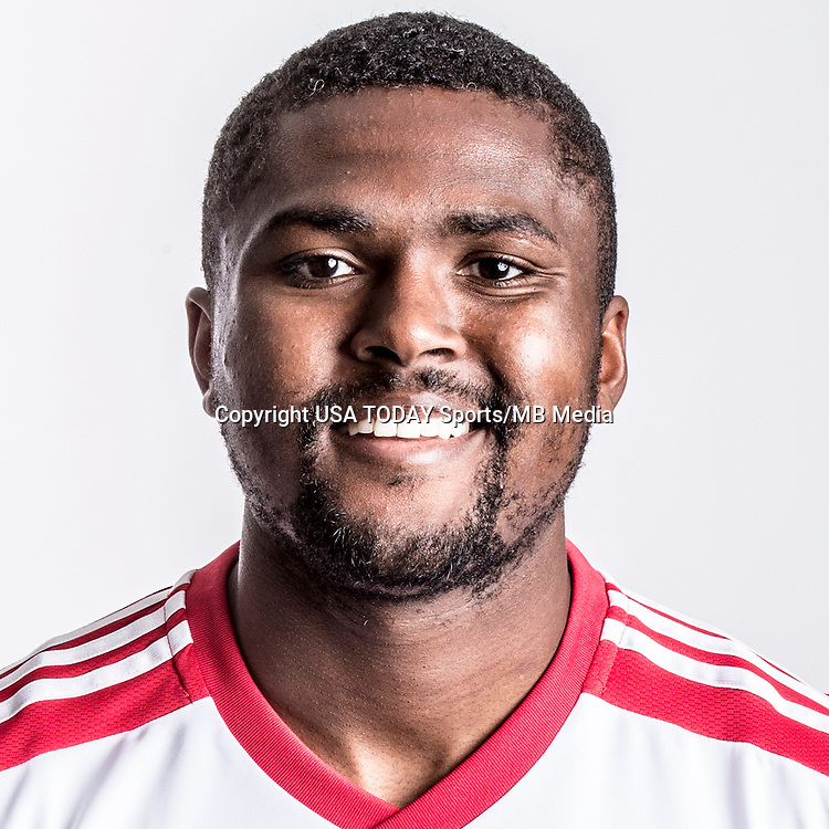 Feb 25, 2016; USA; New York Red Bulls player Chris Duvall poses for a photo. Mandatory Credit: USA TODAY Sports