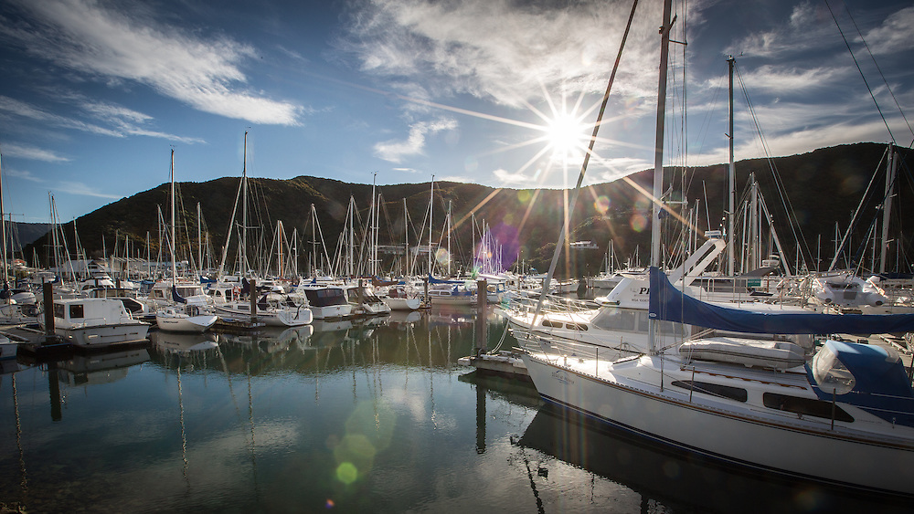 Marlborough Sounds Marinas - Waikawa.  August 2013.<br /> Copyright: Gareth Cooke/Subzero Images