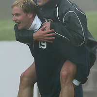 St Johnstone Training...17.10.03<br />Ryan Stevenson gives a piggy back to Paul Bernard during a fog bound training session this morning<br />See story by Gordon Bannerman Tel: 01738 553978<br />Picture by Graeme Hart.<br />Copyright Perthshire Picture Agency<br />Tel: 01738 623350  Mobile: 07990 594431