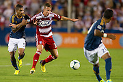 FRISCO, TX - AUGUST 11:  Michel #31 of FC Dallas battles for the ball with Sean Franklin #5 of the Los Angeles Galaxy on August 11, 2013 at FC Dallas Stadium in Frisco, Texas.  (Photo by Cooper Neill/Getty Images) *** Local Caption *** Michel; Sean Franklin