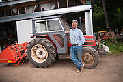 Environmental portrait of farmer Bryan Dickerson.