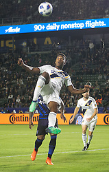 May 25, 2018 - Carson, California, U.S - Ola Kamara #11 of the LA Galaxy tries a scissors kick during their MLS game against the San Jose Earthquakes on Friday May 25, 2018 at the StubHub Center in Carson, California. LA Galaxy defeats the Earthquakes, 1-0. (Credit Image: © Prensa Internacional via ZUMA Wire)