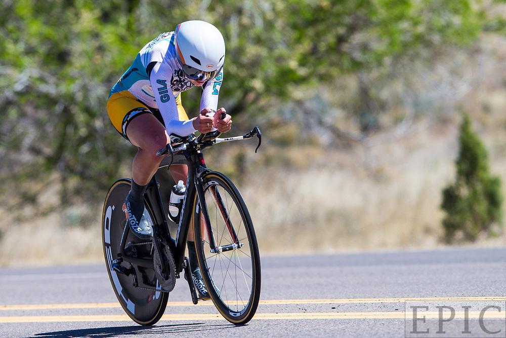 SILVERY CITY, NM - APRIL 20: Emma White (Rally Cycling) during stage 3 of the Tour of The Gila on April 20, 2018 in Silver City, New Mexico. (Photo by Jonathan Devich/Epicimages.us)