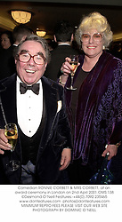 Comedian RONNIE CORBETT & MRS CORBETT, at an award ceremony in London on 2nd April 2001.OMS 138