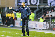 Brighton & Hove Albion manager Chris Hughton during the Sky Bet Championship match between Derby County and Brighton and Hove Albion at the iPro Stadium, Derby, England on 12 December 2015. Photo by Shane Healey.