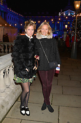 Left to right, VIOLET VESTEY and MARTHA WARD at Skate at Somerset House in association with Fortnum & Mason held on 10th November 2014.