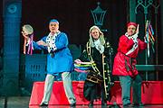 Dress rehearsal of Iolanthe performed by the National Gilbert & Sullivan Opera Company during the <br /> 25th International Gilbert & Sullivan Festival at the Royal Hall Harrogate, North Yorkshire, England on Saturday 18 August 2018 Photo: Jane Stokes<br /> <br /> Director: Cav Vivian Coates<br /> Conductor: James Hendry<br /> Choreographer: Mary MacDonagh<br /> <br /> THE LORD CHANCELLOR/ Richard Gauntlett<br /> EARL OF MOUNTARARAT/Eddie Wade<br /> EARL TOLLOLLER/ Nick Sales<br /> PRIVATE WILLIS/ Matthew Siveter<br /> STREPHON/ Bradley Travis<br /> QUEEN OF THE FAIRIES/Gaynor Keeble<br /> IOLANTHE/Jennifer Parker<br /> CELIA/Stephanie Poropat<br /> LEILA/ Emma Watkinson<br /> FLETA/Alexandra Hazard<br /> PHYLLIS/Rosanna Harris<br /> <br /> THE CHORUS<br /> <br /> Hannah Boxall, Nicole Boardman, Rhiannon Doogan, Joanna Goldspink, Maisy Hepburn, Juliet Montgomery, Julie Power, Eloise Waterhouse<br /> <br /> Andrew Brown, Tom Blackwell, Peter Brooks, Stephen Fawell, Stephen Godward, Matthew Kellett, Michael Vincent Jones, Henry Smith, Jonathan Stevens, Tim Southgate<br /> <br /> TOUR MANAGER/Neil Smith<br /> STAGE MANAGER/Sarah Kent<br /> ASSISTANT STAGE MANAGER/Claire Litton<br /> LIGHTING DESIGN/David Marsden<br /> WARDROBE SUPERVISOR/ Harriet Ravdin<br /> SET DESIGN/ Paul Lazell