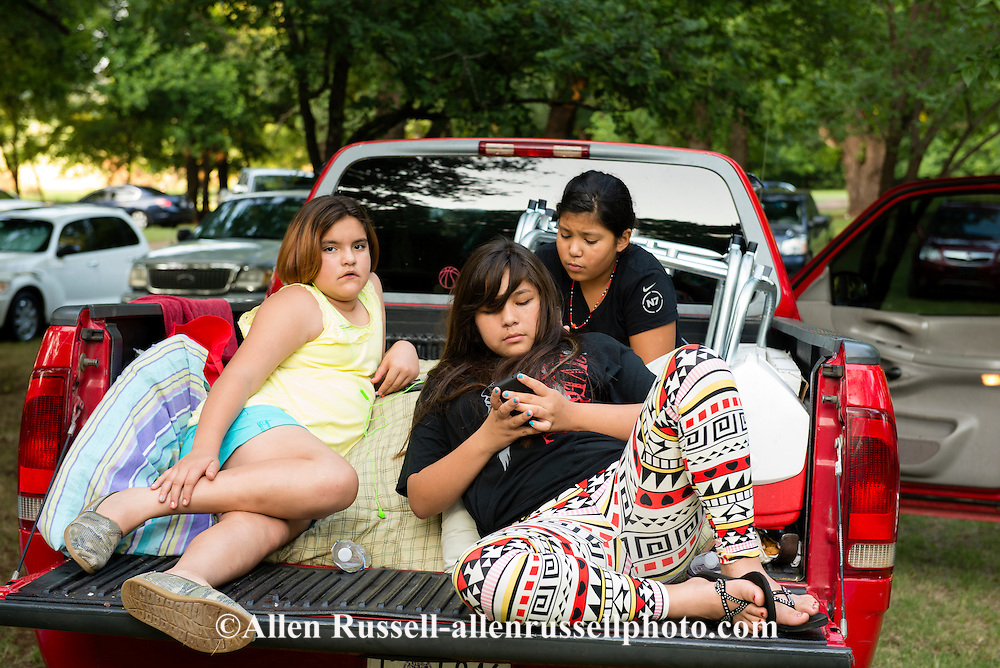 Teenagers, Murrow Powwow, Caddo Nation, Indians, Native Americans, Binger, Oklahoma