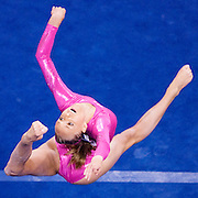 Gymnast Nastia Liukin performs in the floor exercise during the finals of the 2008 Visa Championships of Gymnastics at the Agganis Arena in Boston, MA on June 7.  Liukin placed 8th in the floor exercise...Photo by Brooks Canaday