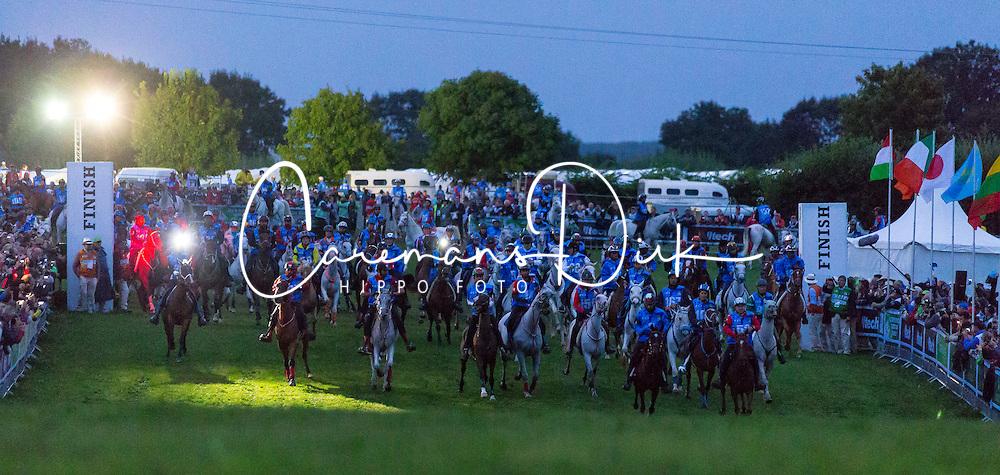 Start of the endurance - Endurance - Alltech FEI World Equestrian Games™ 2014 - Normandy, France.<br /> © Hippo Foto Team - Leanjo De Koster<br /> 25/06/14