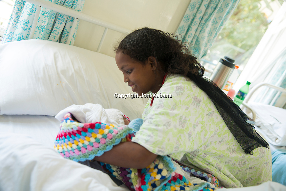 A former fistula patient delivers a healthy baby at the Hamlin Fistula Hospital