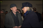RHYDS IFANS; SIR BOB GELDOF, Private view, Paul Simonon- Wot no Bike, ICA Nash and Brandon Rooms, London. 20 January 2015