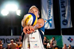 Andrej Stemberger Zupan at Zavarovalnica Triglav Beach Volley Open as tournament for Slovenian national championship on July 29, 2011, in Kranj, Slovenia. (Photo by Matic Klansek Velej / Sportida)