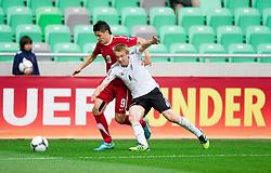 Mariusz Stepinski of Poland vs Nico Brandenburger of Germany during the UEFA European Under-17 Championship Semifinal match between Germany and Poland on May 13, 2012 in SRC Stozice, Ljubljana, Slovenia. (Photo by Vid Ponikvar / Sportida.com)