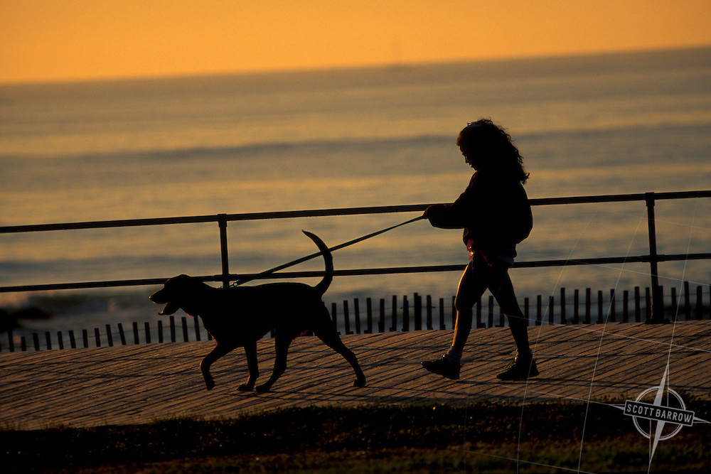Boardwalk, Ocean Grove at sunset.