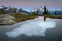 Mount Shuksan seen from Yellow Aster Butte Basin. Mount Baker Wilderness, North Cascades