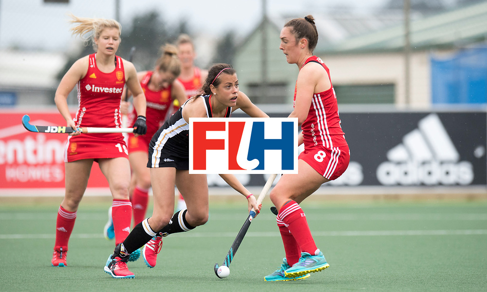 AUCKLAND - Sentinel Hockey World League final women<br /> Match id 10293<br /> 03 England v Germany <br /> Foto:  Selin Oruz and Olivia Paige <br /> WORLDSPORTPICS COPYRIGHT FRANK UIJLENBROEK