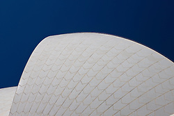 Detailed view of the roof of the Sydney Opera House, Sydney, New South Wales, Australia