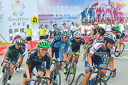 September 24, 2017 - Zhuhai, Guangdong, China - Riders on the U Turn during the fifth and final stage of the 2017 Tour of China 2, the 91.2km Zhuhai Hengqin Circuit Race. .On Sunday, 24 September 2017, in Hengqin district, Zhuhai City, Guangdong Province, China. (Credit Image: © Artur Widak/NurPhoto via ZUMA Press)
