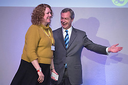 © Licensed to London News Pictures. 27/02/2015. Margate, UK The UKIP. Harriet Yeo and Nigel Farage. spring conference at Margate Winter Gardens 27th February 2015. Photo credit : Stephen Simpson/LNP
