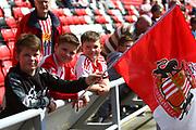 Sunderland fans during the EFL Sky Bet Championship match between Sunderland and Burton Albion at the Stadium Of Light, Sunderland, England on 21 April 2018. Picture by John Potts.