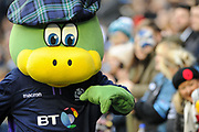 Happy Scotland mascot after winning the 2018 Autumn Test match between Scotland and Fiji at Murrayfield, Edinburgh, Scotland on 10 November 2018.
