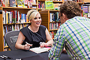 "Sept. 16 - TEMPE, AZ: MEGHAN MCCAIN signs copies of her book, ""Dirty Sexy Politics"" at Changing Hands Bookstore in Tempe, AZ, Thursday, Sept. 16. McCain's book is a recounting of her life on the campaign trail during the 2008 election, when her father, John McCain, was the Republican candidate for President of the United States.  Photo by Jack Kurtz"
